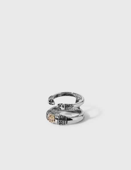 알렉산더 맥퀸 Alexander McQueen Skull and Charm Seal Double Ring