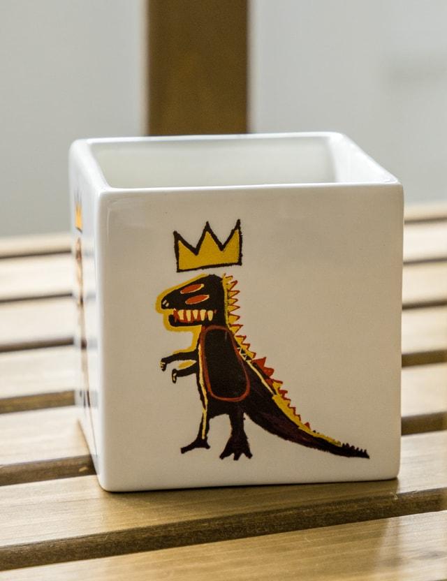 Ligne Blanche Jean Michel Basquiat Gold Dragon Square Candle White Unisex