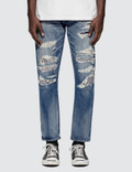 Denim By Vanquish & Fragment Used Remake Tapered Denim Jeans Picture