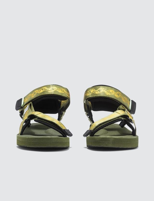 Suicoke Aries X Suicoke DEPA-CABARI-A Sandals Green Women