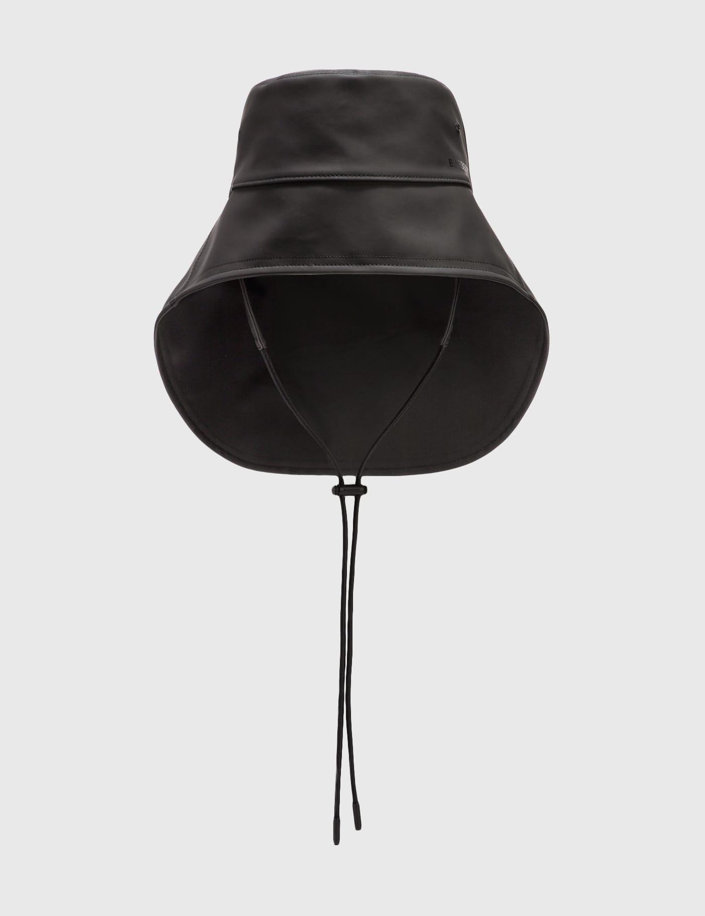 버버리 Burberry Topstitched Rubberised Cotton Fisherman Hat