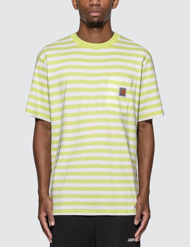 Carhartt Work In Progress Scotty Pocket T-Shirt Scotty Stripe, Lime / White Men