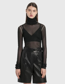 Helmut Lang Sheer Long Sleeve Top