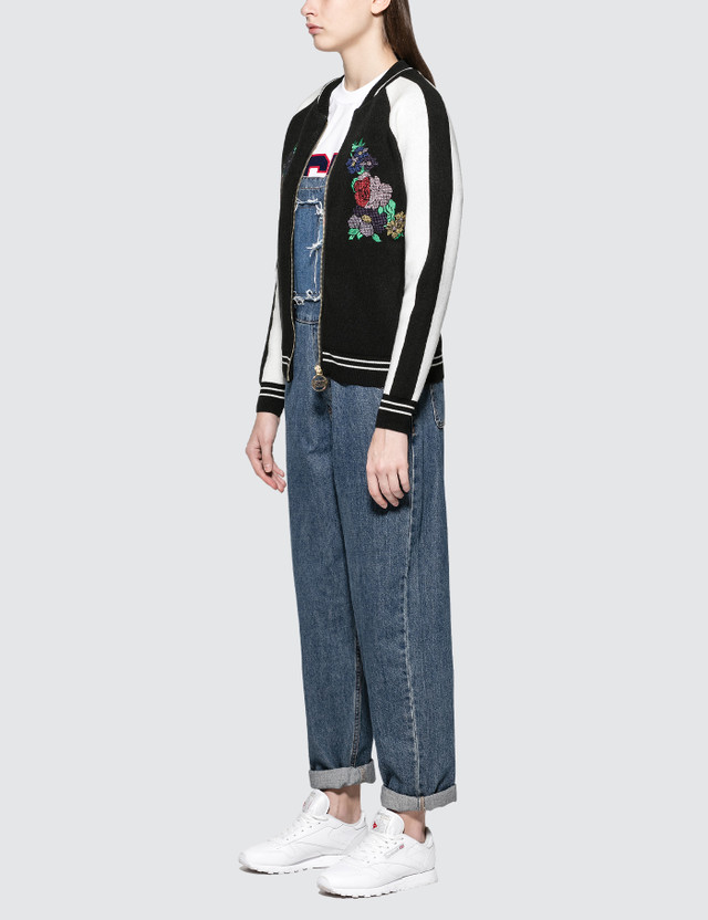 GCDS Short Flower Bomber Jacket