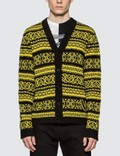 Versace Intarsia Knit Cardigan Picture