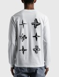 Stone Island Back Logo Long Sleeve T-Shirt White Men