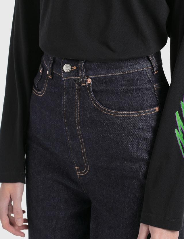 MM6 Maison Margiela Pleated Jeans Raw Crush Women