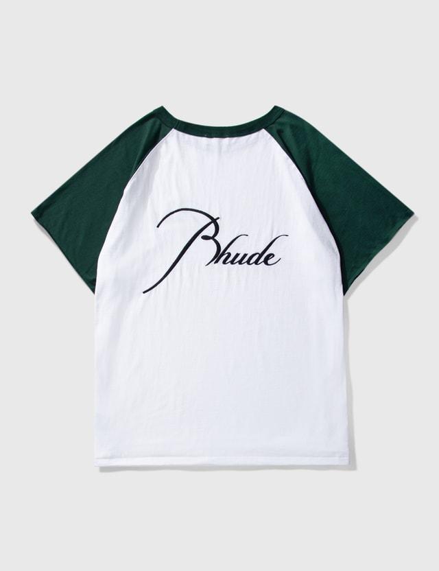 Rhude Raglan T-shirt White/green Men