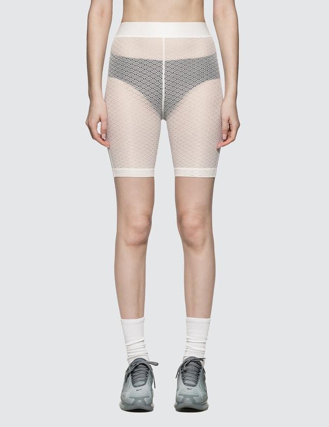 John Elliott Laine Biker Shorts White Women