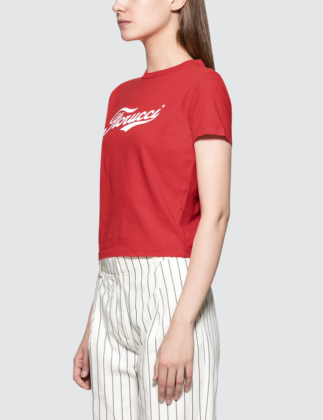 Fiorucci Soda Cropped Short Sleeve T-shirt