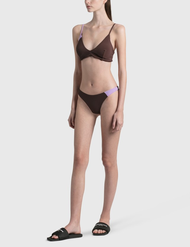 Daniëlle Cathari Deconstructed Bikini Bottom Brow / Lilac Women