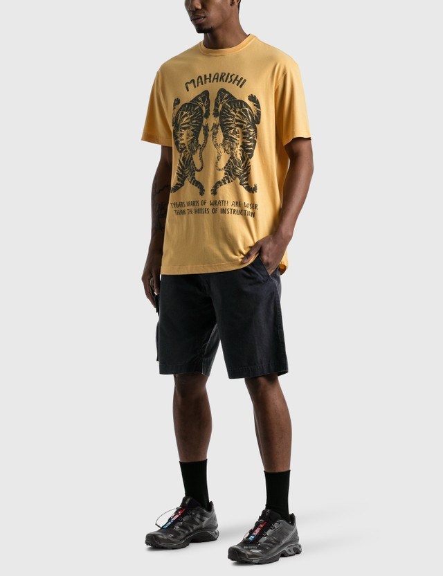 Maharishi Tigers Of Wrath T-shirt Yellow Men