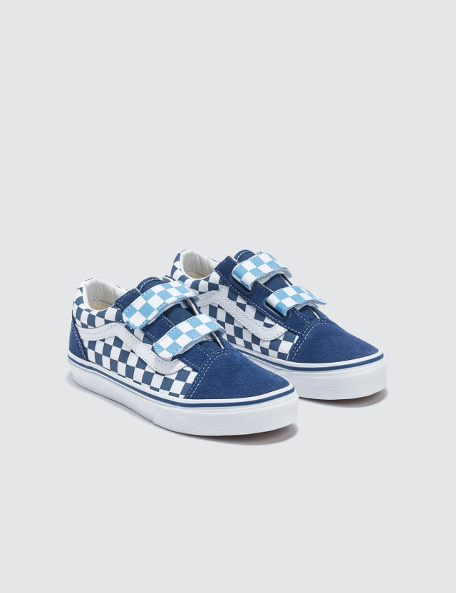 Vans Old Skool V Kids (checkerboard) True Navy/bonnie Blue Kids