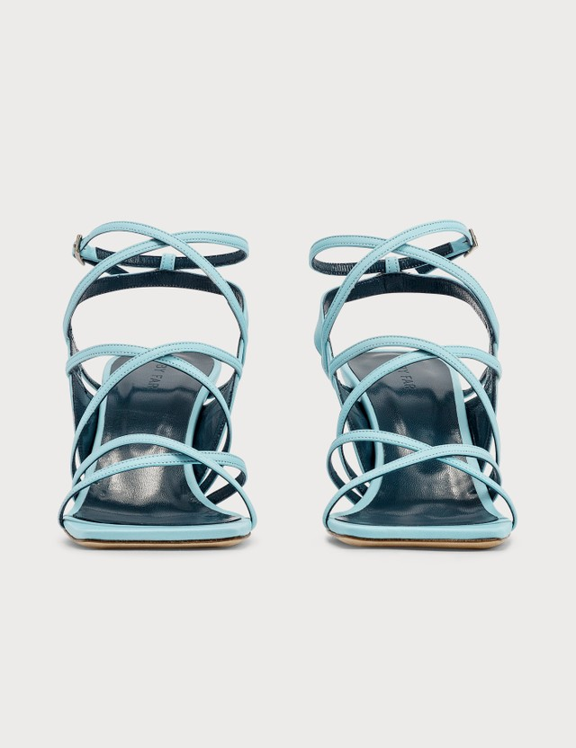 BY FAR Christina Baby Blue Leather Sandals