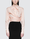 Opening Ceremony Sateen Wrap Front Shirt Picture