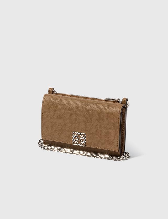 Loewe Anagram Wallet On Chain Oak Women