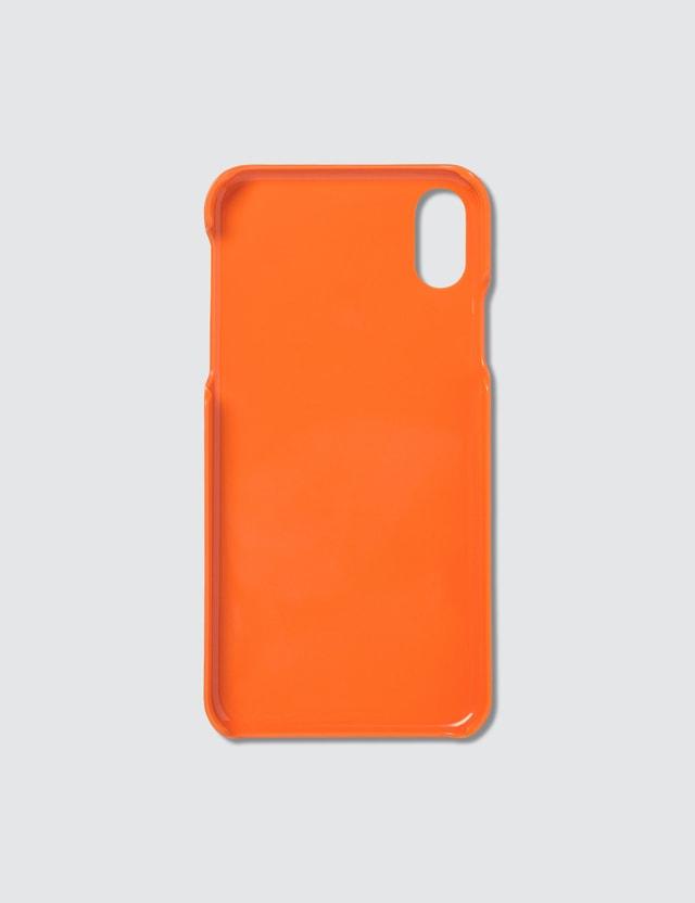 Maison Kitsune Tricolor Fox iPhone X Case Orange Men