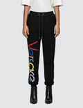 Versace Rainbow Color Logo Sweatpants Picture