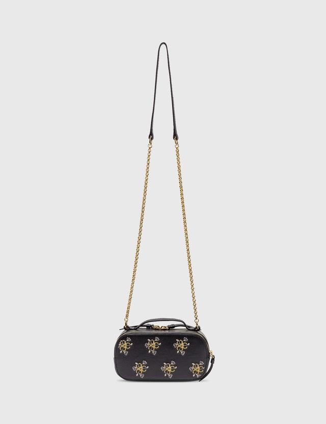 Chloé Chloé C Mini Vanity Bag With Embroidery Full Blue Women