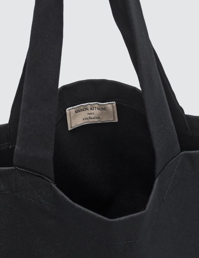 Maison Kitsune Black Fox Tote Bag
