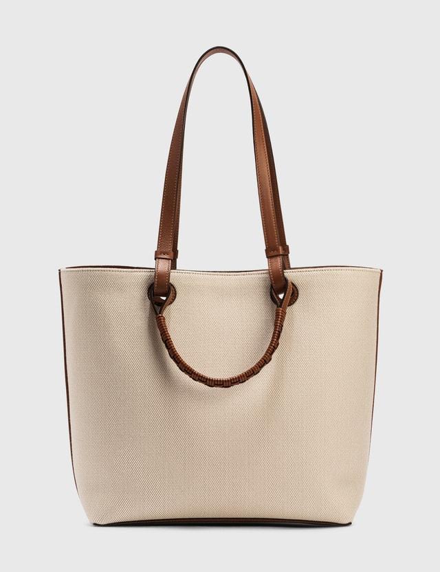 Loewe Anagram Tote Bag Ecru/tan Women