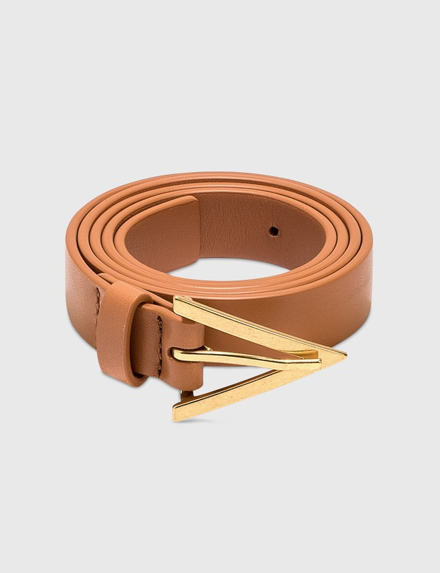Bottega Veneta Leather Belt Clay/clay-gold Women