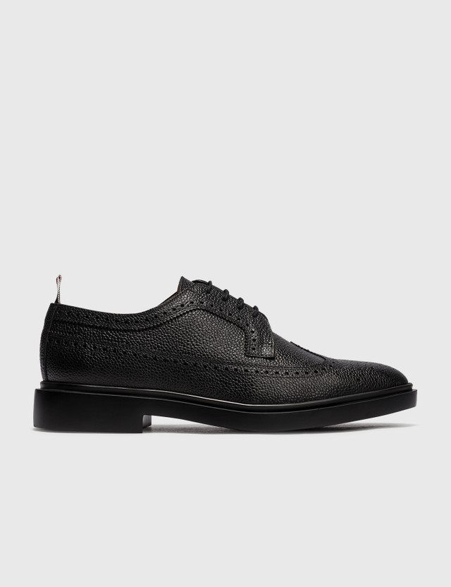 Thom Browne Classic Longwing Brogue with Lightweight Rubber Sole Black Men