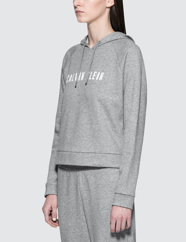Calvin Klein Performance Logo Terry Hood Pullover