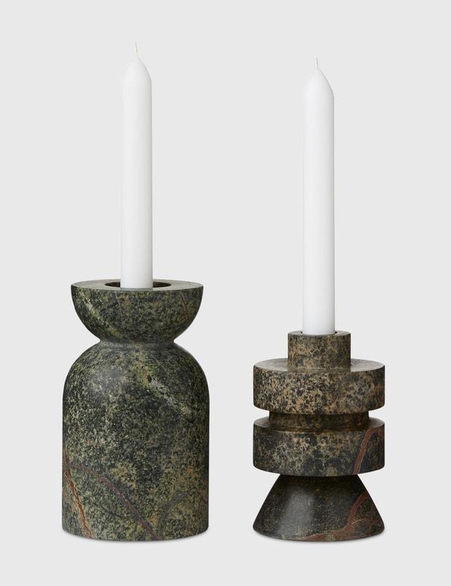 Tom Dixon Medium Rock Candle Holder Green Unisex