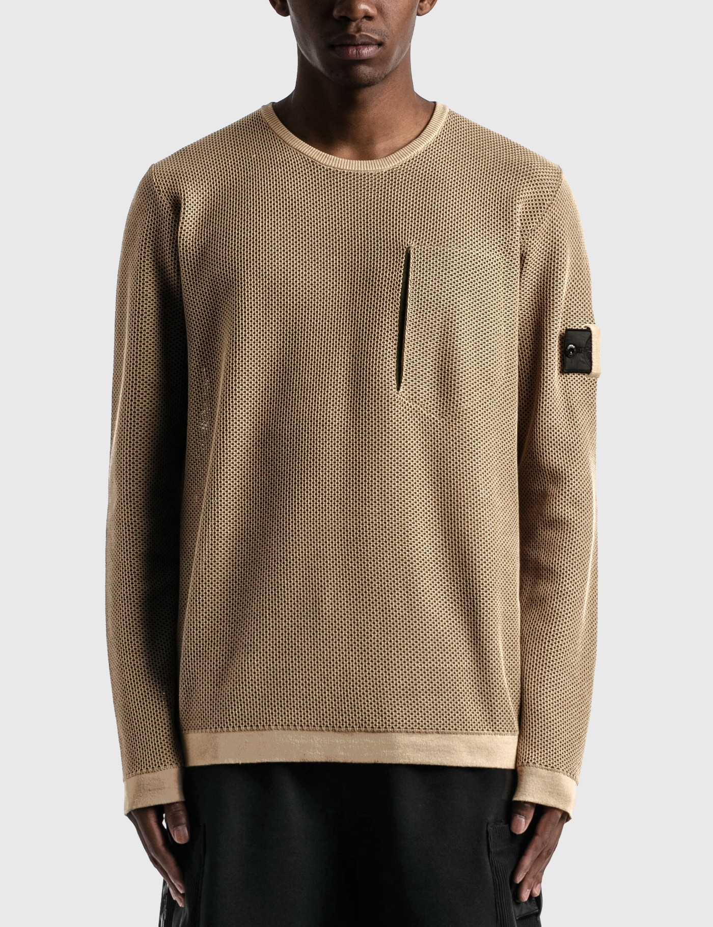 Stone Island Shadow Project LIGHT MESH KNIT CREWNECK