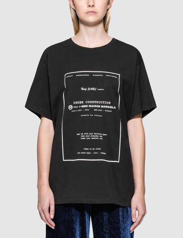 MM6 Maison Margiela Under Construction Short Sleeve T-Shirt