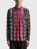 Needles 7 Cuts Zipped Wide Flannel Shirt Picture