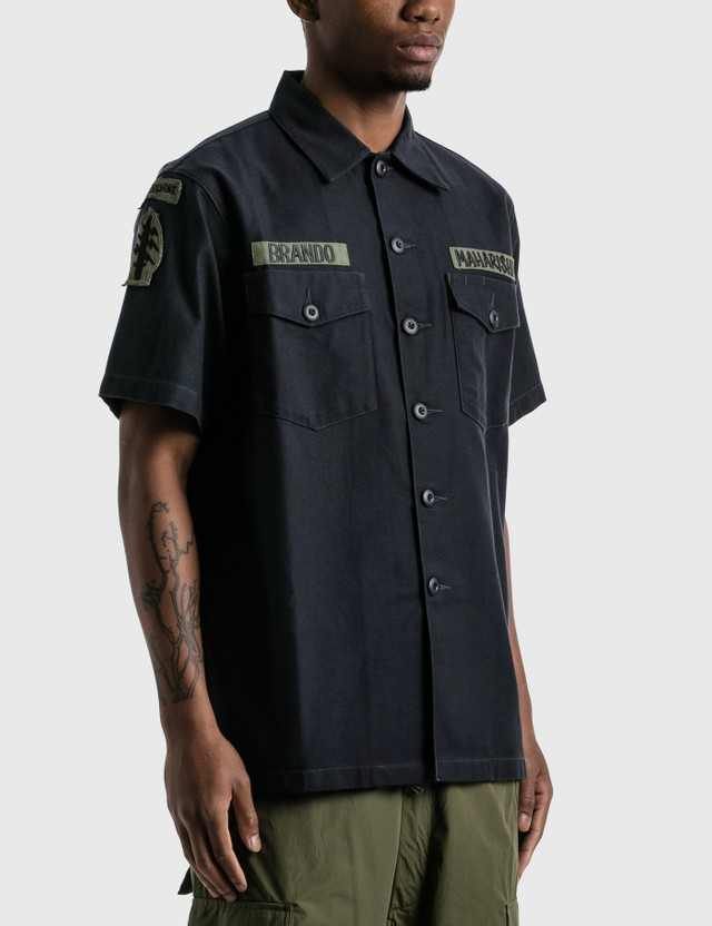 Maharishi 3rd Pattern Mod Utility Shirt Black Men