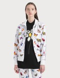 Palm Angels Butterfly Track Jacket Optical White  Yell Women