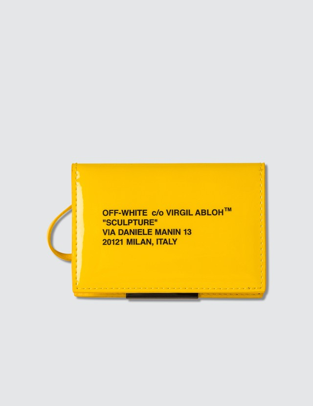 Off-White Patent Card Holder