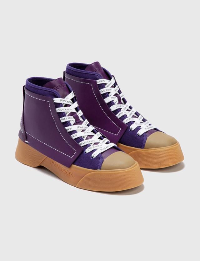 JW Anderson Logo High Top Sneaker Purple Women