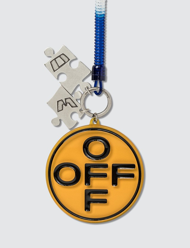 Off-White Cross Bungee Key Ring