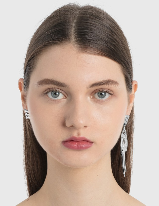 Misbhv M Tribal Earrings Silver Women