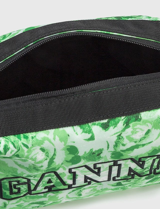Ganni Recycled Tech Fabric Vanity Case Island Green 778 Unisex