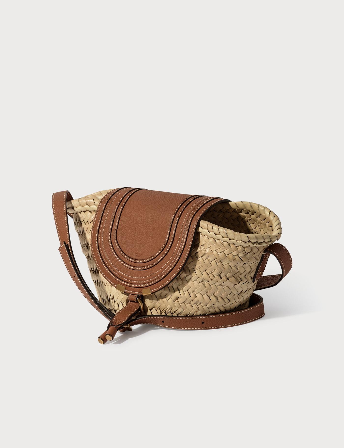 Basket Leather Crossbody Bag