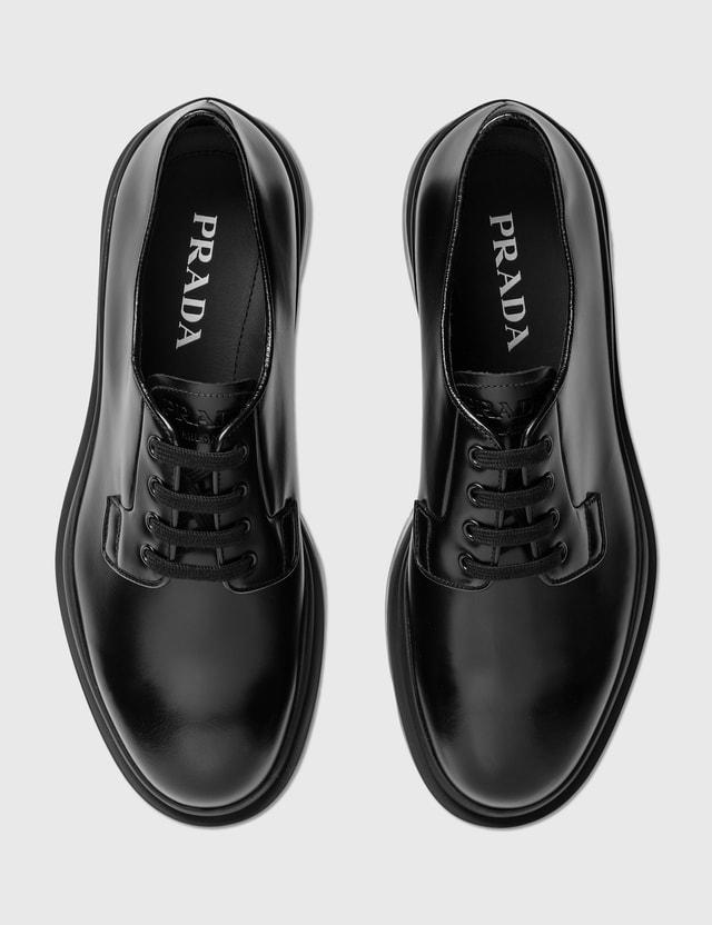 Prada Leather Lace Up Shoes Nero Men