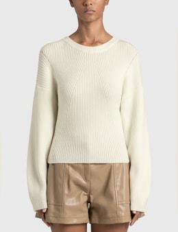 Jonathan Simkhai Kylee Recycled Knitwear Drape Back Pullover