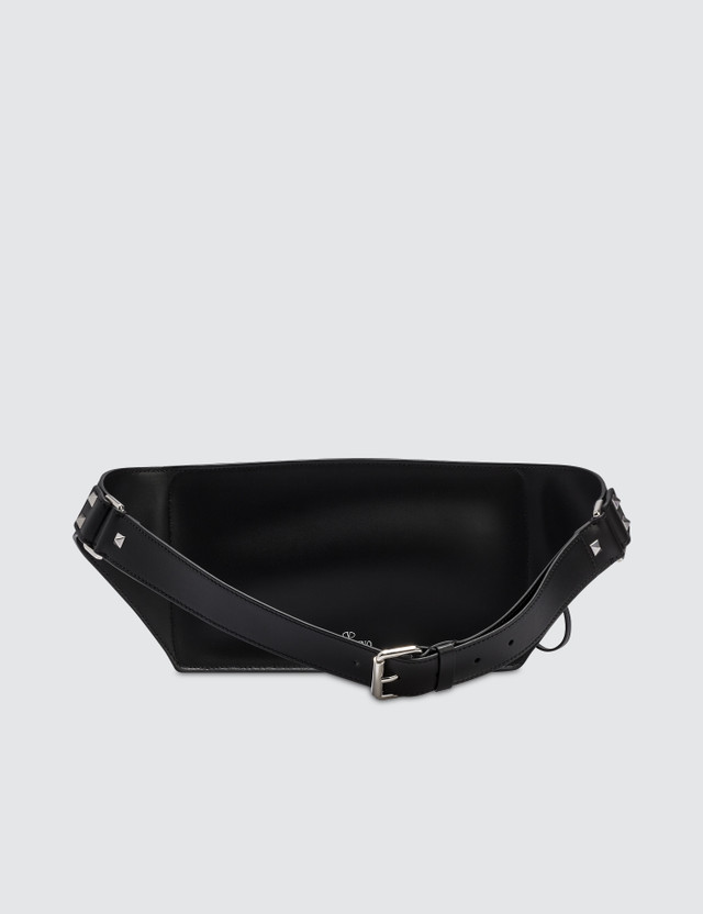 Valentino Black Vltn Waist Bag