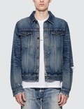 Saint Laurent Destroyed Denim Jacket Picutre