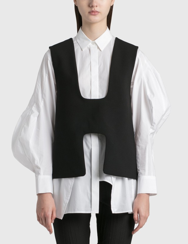 Enföld Double Cloth Vest Black Women