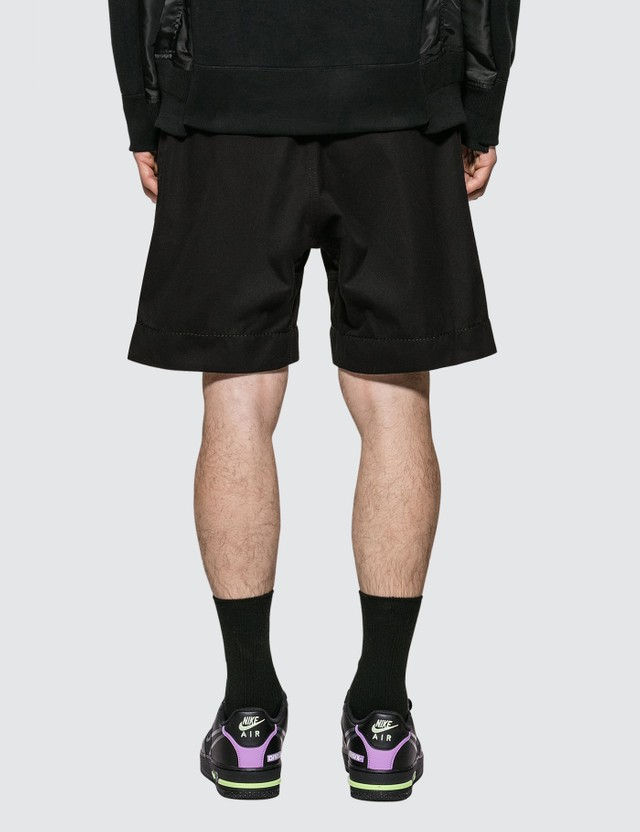 Sacai Gramiccl Cotton Twill Shorts Black 001 Men