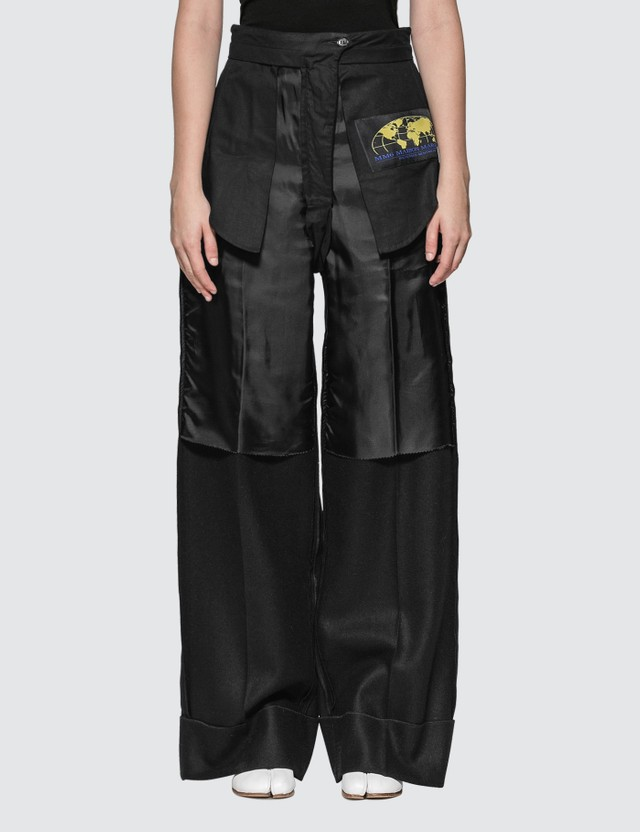 MM6 Maison Margiela Inside-Out Wool Blend Pants