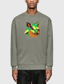 Maison Kitsune Neon Fox Print Sweatshirt