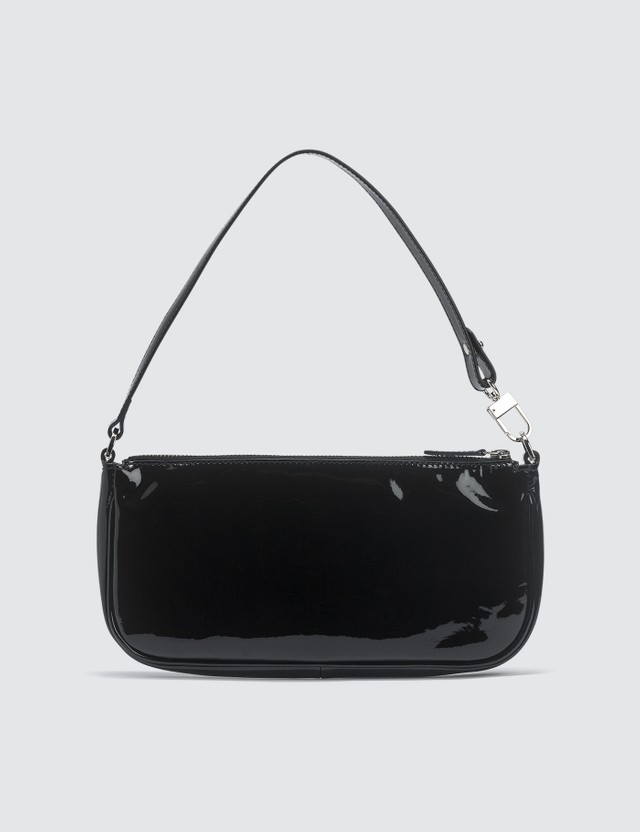 Rachel Black Patent Leather Bag