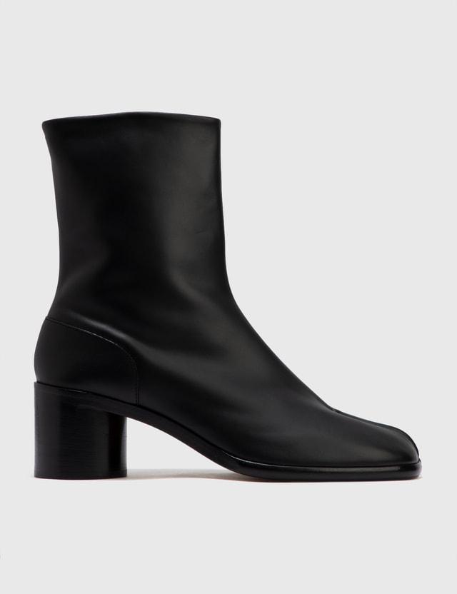 Maison Margiela Painted Calfskin Tabi Boots Black Men